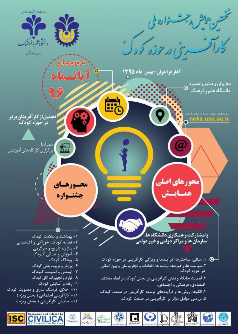 نخستین همایش و جشنواره ملی کارآفرینی در حوزه کودک - 96