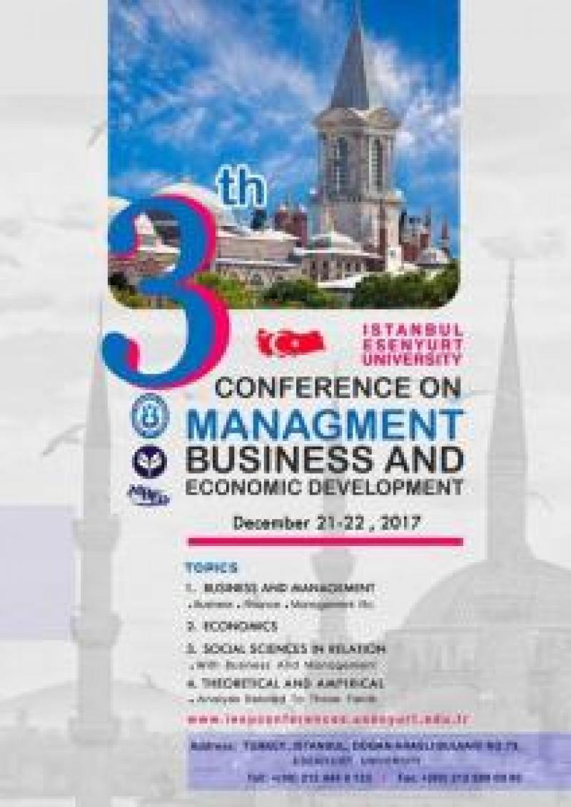 سومین کنفرانس بین المللی مدیریت،تجارت و توسعه اقتصادی