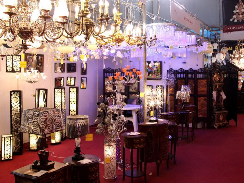 نمایشگاه لوستر - چراغهای تزئینی و دکوراسیون - قزوین 96