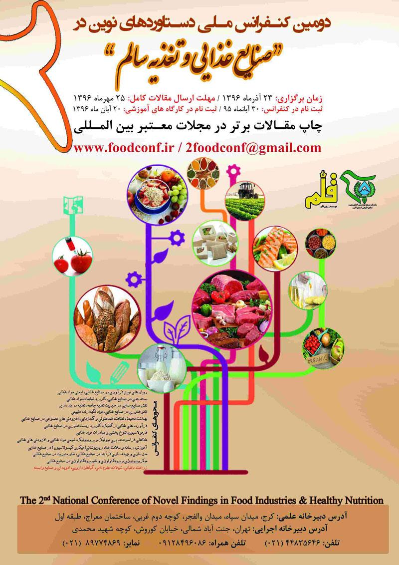دومین کنفرانس ملی دستاوردهای نوین در صنایع غذایی و تغذیه سالم - 96