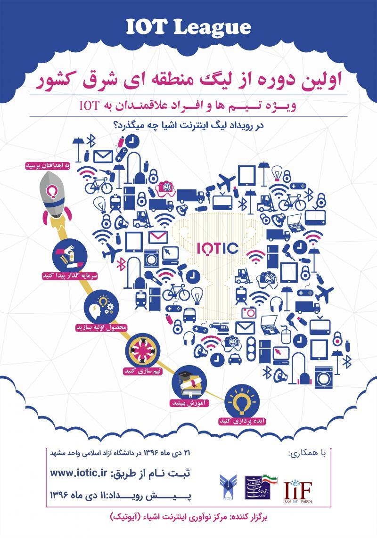 اولین دوره از لیگ اینترنت اشیا منطقه ای شرق کشور مشهد 96
