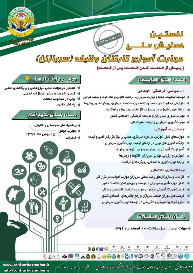 نخستین همایش ملی مهارت آموزی کارکنان وظیفه (سربازان) ؛ تهران -97