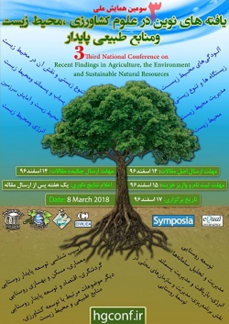 همایش یافته های نوین در علوم کشاورزی ،محیط زیست و منابع طبیعی پایدار؛جیرفت - 96