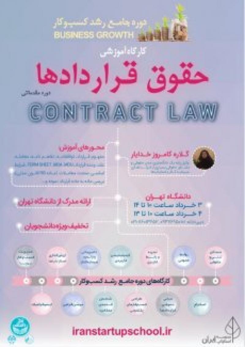 آشنایی با مسائل حقوقی قراردادها به زبان ساده و کاربردی ؛تهران - خرداد 97