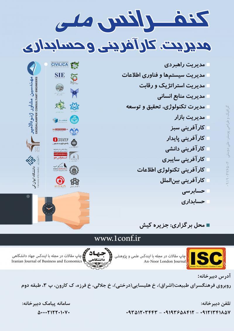 کنفرانس ملی مدیریت، کارآفرینی و حسابداری ؛کیش - شهریور 97