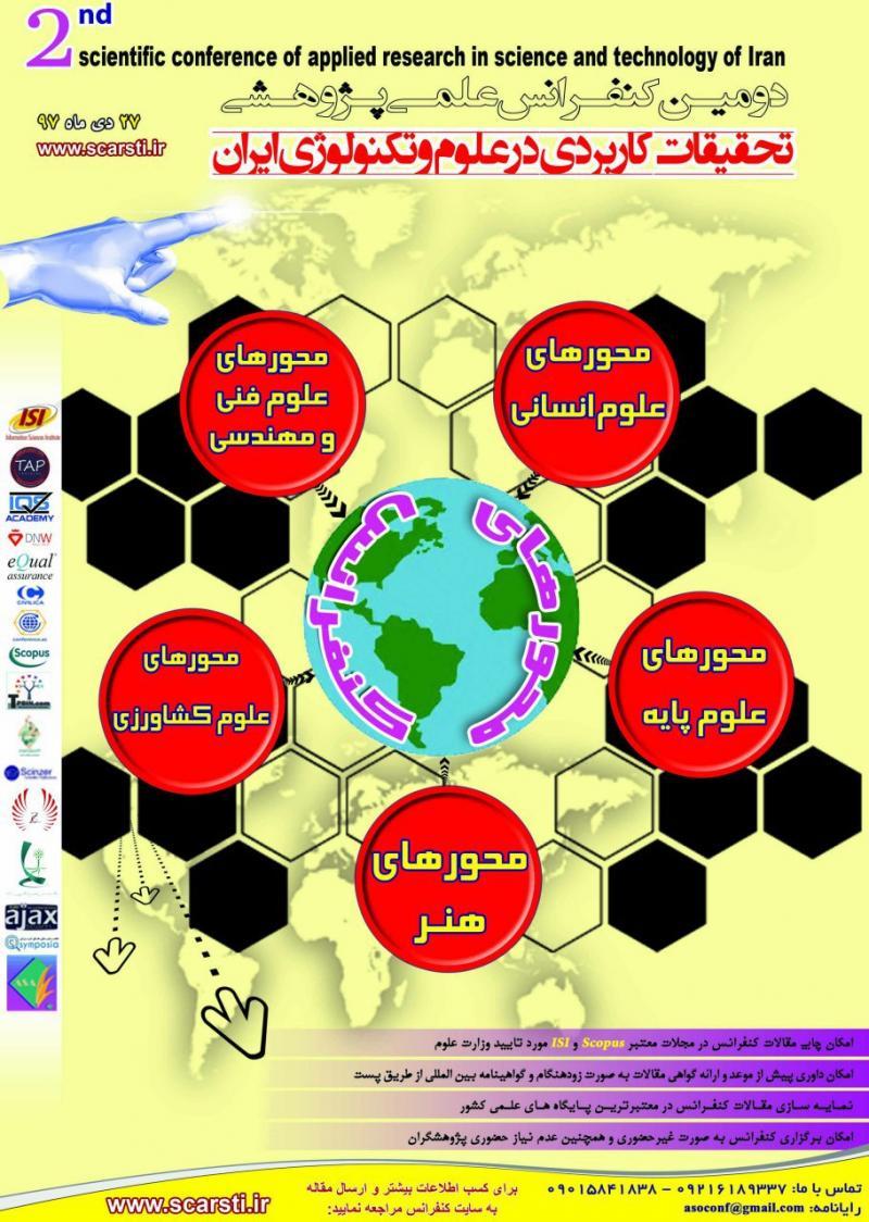کنفرانس علمی پژوهشی تحقیقات کاربردی در علوم و تکنولوژی ایران ؛ایلام - دی97