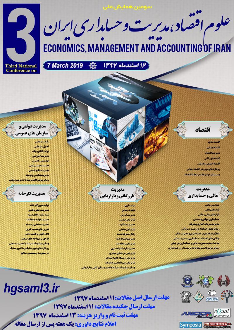همایش اقتصاد،مدیریت و حسابداری ایران ؛جیرفت - اسفند 97