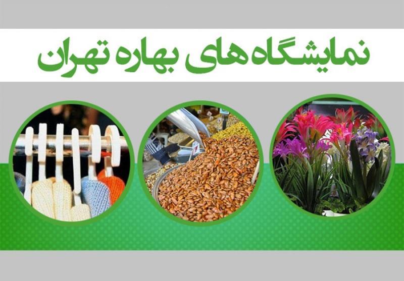 نمایشگاه های بهاره در پنج نقطه ؛تهران - اسفند 97