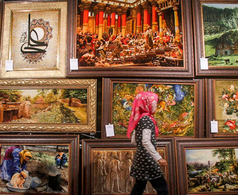نمایشگاه فرش و تابلو فرش دستباف  ؛ سنندج - مرداد 98