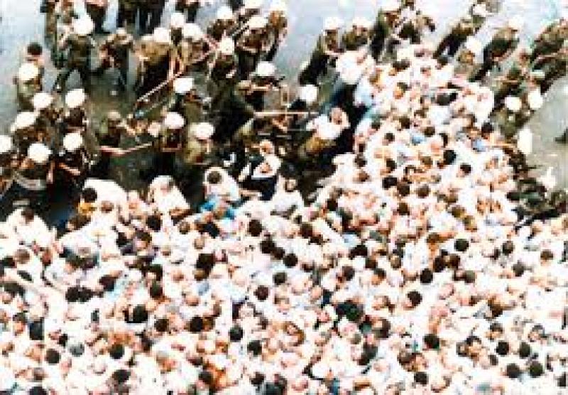 شهادت مظلومانۀ زائران خانه خدا به دست مأموران آل سعود 1366هـ  ش ـ برابر با 6 ذي الحجه 1407هـ  ق؛مرداد 99